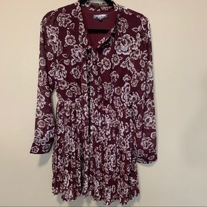Fashion Union Pleated Floral Dress Sz M